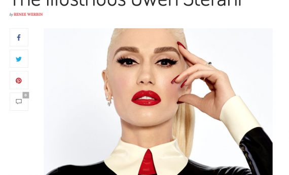 Gwen Stefani in Travelgirl magazine