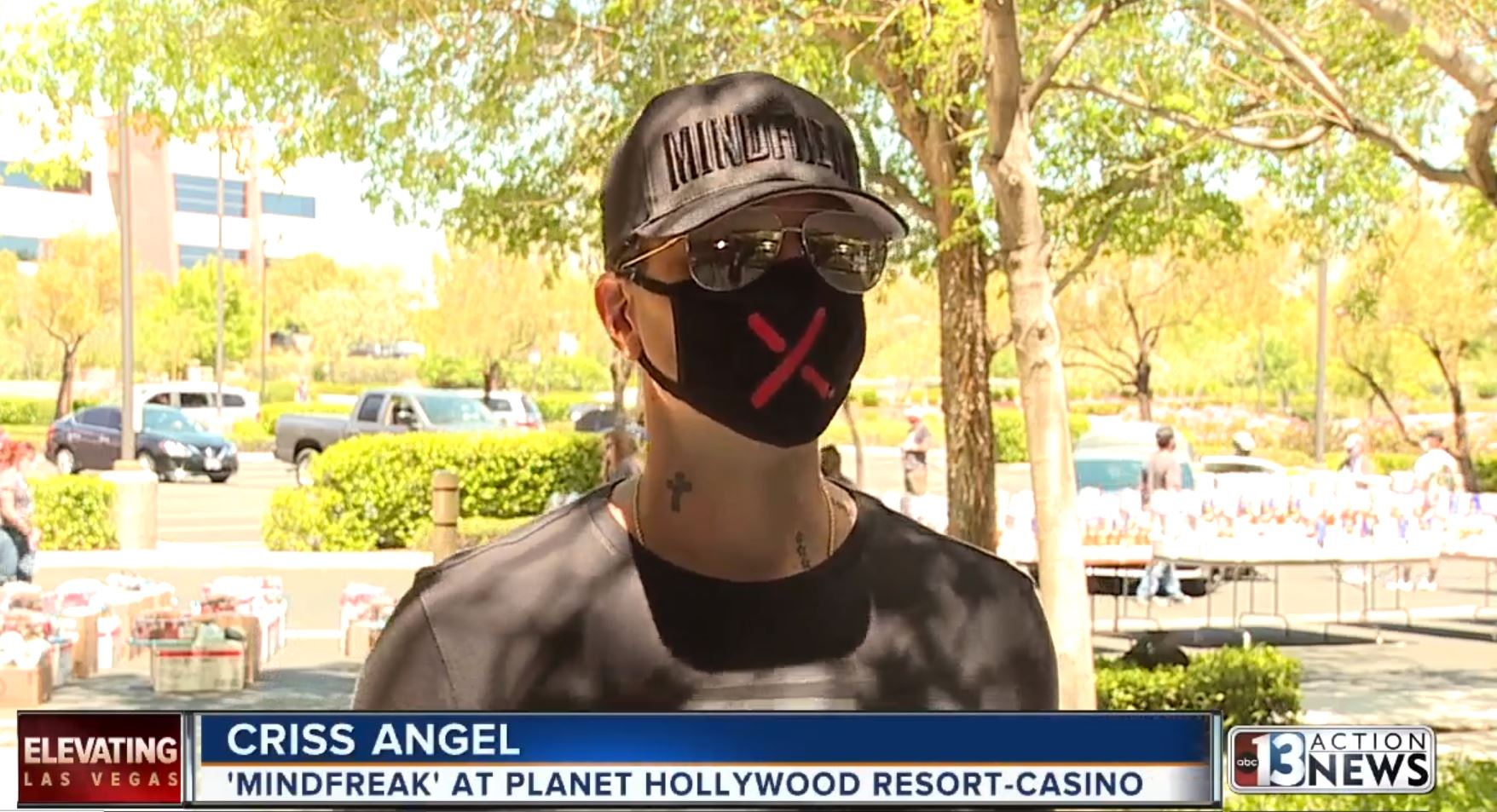 Criss Angel Donates $250,000 Worth of Food & Entertainment to Families in Need.