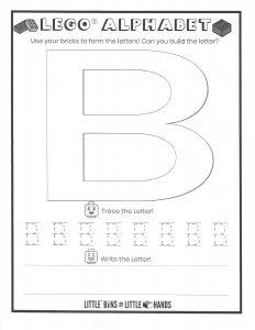 Lego Alphabet B